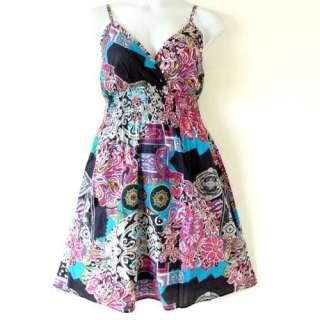 Plus Size PadsCotton Floral Print Sun Dress 1X 2X 3X