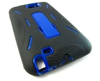 BLK BLUE IMPACT HARD CASE COVER KICKSTAND SAMSUNG GALAXY NOTE PHONE