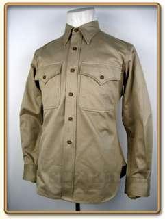 WW2 US Marine Corps Summer Service Khaki Shirt M