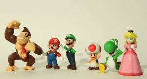 Super Mario Series 1 Set of 6 Mini Party Figures