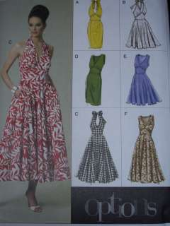 BEAUTIFUL MARILYN MONROE STYLE HALTER DRESS PATTERN 6 20uc