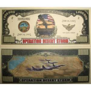 Set of 10 Bills Operation Desert Storm Million Dollar Bill