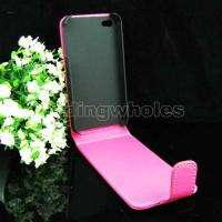 LEATHER SKIN CASE POUCH COVER +SCREEN PROTECTOR FOR iPhone 4 4G OS