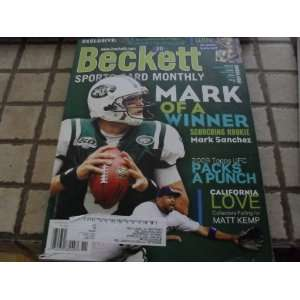 Beckett November Issue Mark Sanchez Cover Magazine
