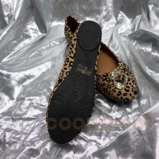Fashion Casual Leopard Print Flats Shoes LORITA 08 CAMEL/Black NEW