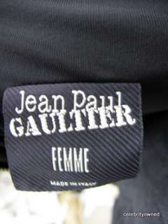 Jean Paul Gaultier Black Sleeveless Zipper Long Dress38