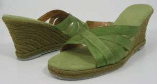 69 LIZ CLAIBORNE MOE Green Womens Shoes Sandal Wedge 6