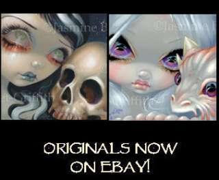 Dark Dragon Fairy Jasmine Becket Griffith ORIGINAL PAINTING gothic