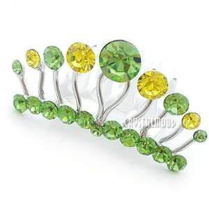 Green Swarovski Crystal Mini Tiara Comb 1.75 Wide Beauty