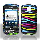 Rainbow Zebra Faceplate Hard Shell Cover Phone Case for