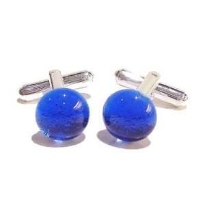 The Black Cat Jewellery Store Blue Dichroic Glass