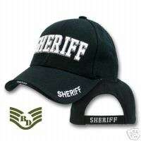 BLACK SHERIFF LAW ENFORCEMENT HAT HATS CAP CAPS