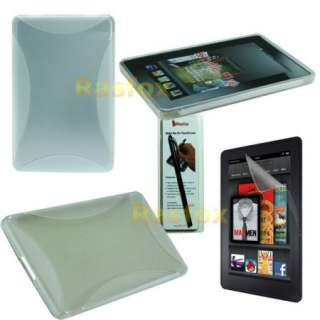 Kindle Fire TPU Gel Case Skin Cover + Screen Protector + Stylus