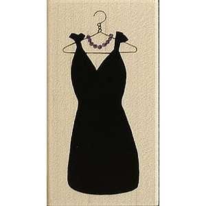 Little Black Dress Wood Mounted Rubber Stamp Arts, Crafts
