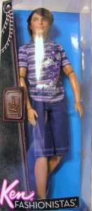 Barbie Mattel 2012 Fashionistas KEN doll black hair w/ t shirt and