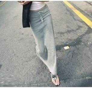 Women Stylish Long Jersey Monochrome Maxi Skirt Full Length Tube Dress