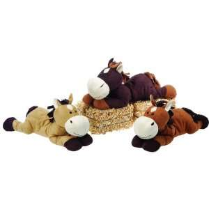13 3 Assorted Color Laydown Suede Horses Case Pack 24