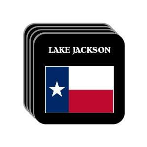 US State Flag   LAKE JACKSON, Texas (TX) Set of 4 Mini