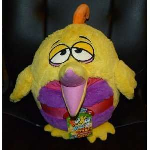 KooKoo Birds Yellow 12+ Round Plush Bird Pillpw With
