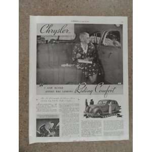 1935 Chrysler,Vintage 30s full page print ad (woman in