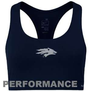 Ladies Navy Blue Dri FIT Performance Sports Bra