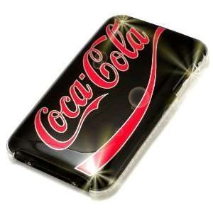 Coca Cola   Black with Red Styling   Hard Case for iPhone