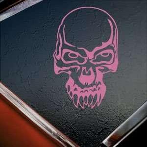 Demon Skull Pink Decal Car Truck Bumper Window Pink Sticker