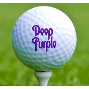 3 x Rock n Roll Golf Balls Deep Purple Musical