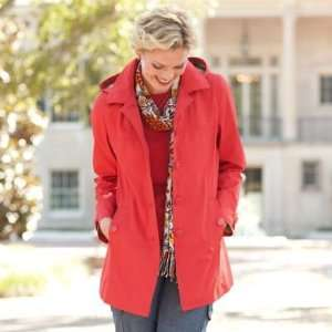 TravelSmith Womens Princess Seam Hooded Mac Orange M
