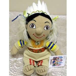Small World 9 Plush Bean Bag Native American Boy Doll Toys & Games