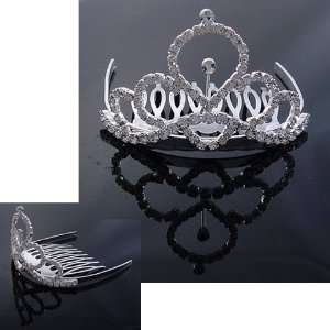 Bridal Flower Girl Prom Party Crystal Tiara Comb T18 Beauty