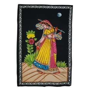 Woman Wall Hanging Adorn with Sequins Work: Home & Kitchen