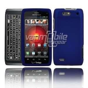 VMG Motorola Droid 4 4th Gen Hard Case Cover   Dark Blue