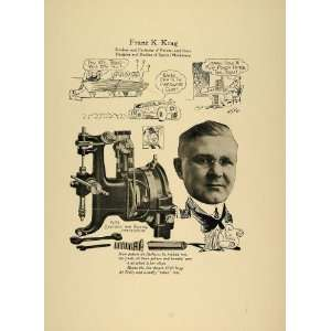 Krag Chicago Patents Ideas Designer   Original Print