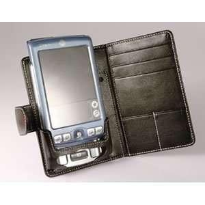 Leather Bi fold Case Palm Zire 71 (Black) Cell Phones