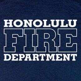 Honolulu Fire Department Hawaii Firefighter T shirt 2XL