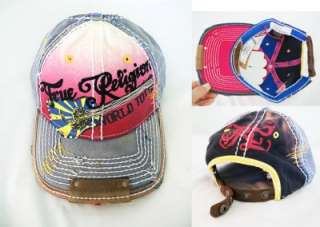 NWT True Religion Denim Hat/Cap Pink Unisex 100%AUTH
