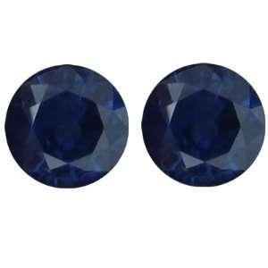 2.74 Carat Loose Blue Sapphires Round Cut Pair Jewelry