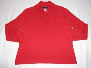 Jones New York 100% Cashmere Sweater Womens Medium Red