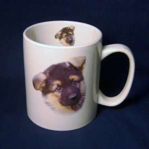 Cute German Shepherd Puppy Dog Large Coffee Mug