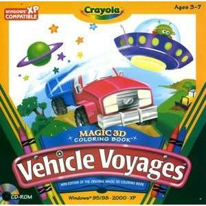 CRAYOLA VEHICLE VOYAGES   3D COLOR BOOK Toys & Games