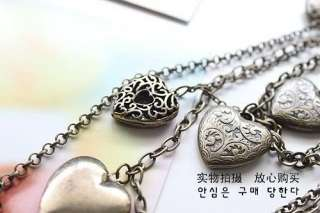 Jewelry Retro Vintage Style Multilayer Lovely Cute Love Heart Necklace