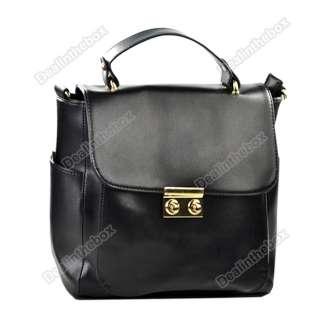 Fashion Celebrity Lady Shoulder Bag Gold Button Handle Bag Purse