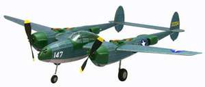 P38 Lightning, Kit #324 Dumas Balsa Wood Model Airplane Kit