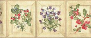 KITCHEN FLORAL AND FRUIT WALLPAPER BORDER (COUNTRY KITCHEN) |