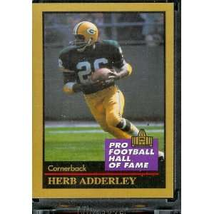 1991 ENOR Herb Adderly Football Hall of Fame Card #2   Mint Condition