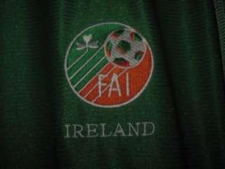 FAI IRELAND IRISH JERSEY SHIRT LUCKY CHARMS BEER VTG AUTHENTIC UMBRO
