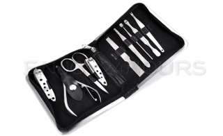 9Stainless Steel Nail Clipper Manicure Pedicure Set Kit