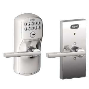 , Century Collection Keypad Latitude Lever Door Lock, Bright Chrome