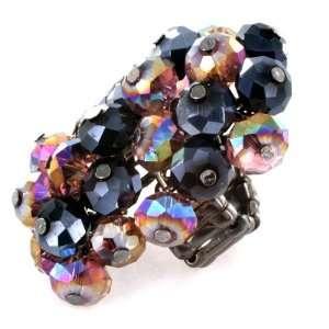 Smoky Topaz Crystal Beads Stretch Ring West Coast Jewelry Jewelry